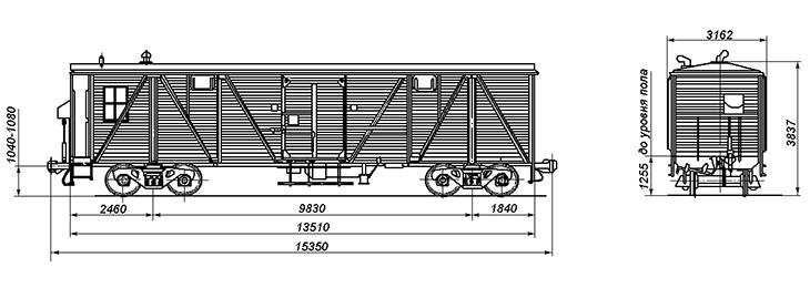 4-осный сборно-раздаточный вагон, модель 12-С101