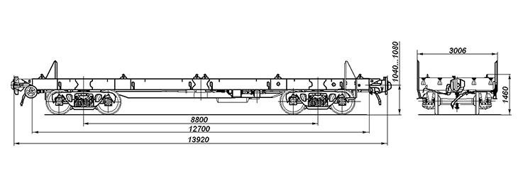 4-осная платформа, модель 13-192