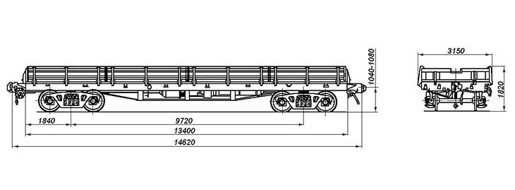 4-осная универсальная платформа, модель 13-4012