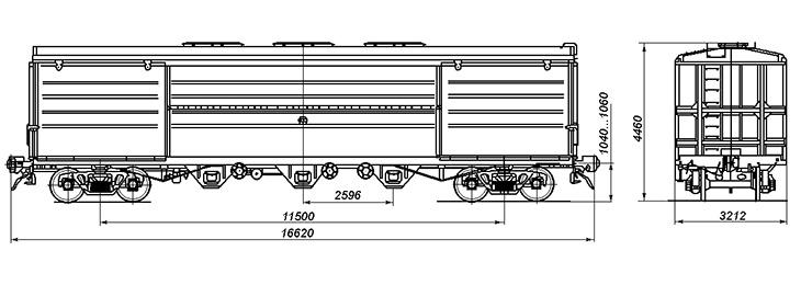 4-осный вагон для глинозема и алюминия, модель 19-795-01