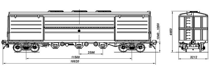 4-осный вагон для глинозема и алюминия, модель 19-795