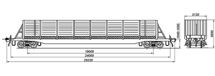 4-осный вагон для троллейбусов, модель 23-4082