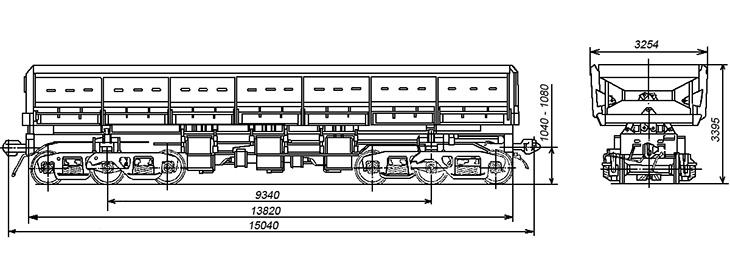4-осный вагон-самосвал, модель 33-682
