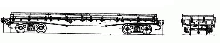 4-осная платформа с металлическими бортами, модель 13-H451