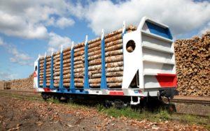 вагон-лесовоз модели 13-6852