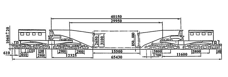 32-осный транспортер сочлененного типа г.п. 500 т., усл. модель 14-T001, обозначение по нумерации 3998 (тип)