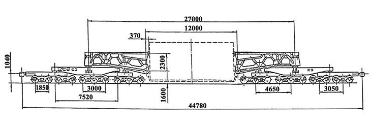 20-осный транспортер сочлененного типа, модель 14-T004, обозначение по нумерации 3993 (тип)