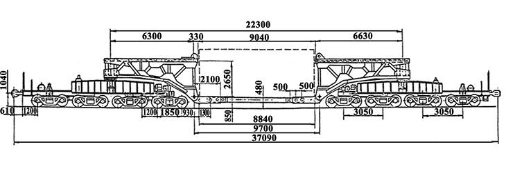 16-осный транспортер сочлененного типа, модель 14-T005, обозначение по нумерации 3991 (тип)