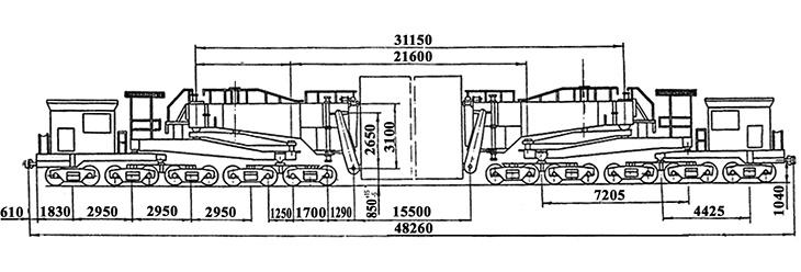 20-осный транспортер сочлененного типа г.п. 300 т., усл. модель 14-T006, обозначение по нумерации 3994 (тип)
