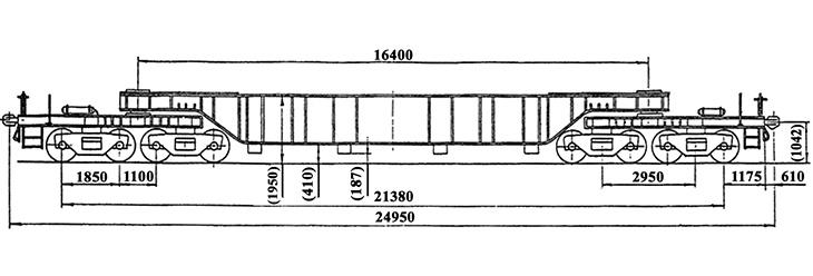 8-осный транспортер колодцевого типа г.п. 120 т., усл. модель 14-T201, обозначение по нумерации 3947 или 3946 (тип)