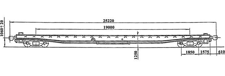 4-осный транспортер платформенного типа г.п. 64 т., усл. модель 14-T302, обозначение по нумерации 3931 (тип)