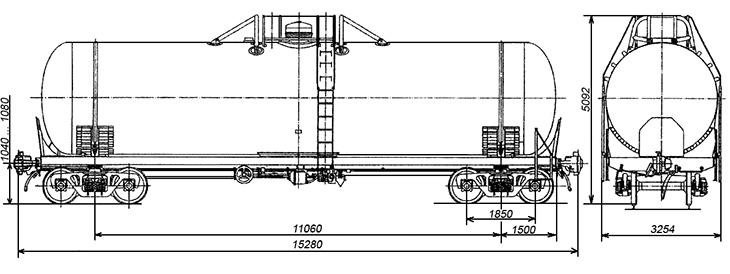 4-осная цистерна для пропана, бутана и их смесей, модели 15-9503 АВП