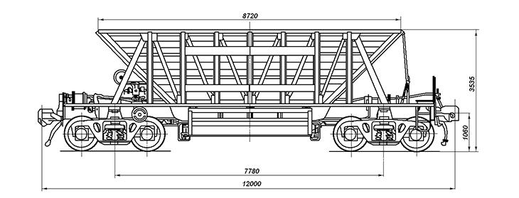 4-осный вагон для окатышей, модель 20-4015-01