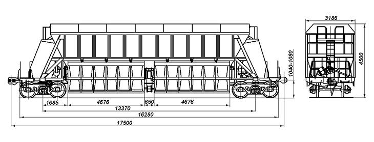 4-осный вагон-хоппер для торфа, модель 22-473