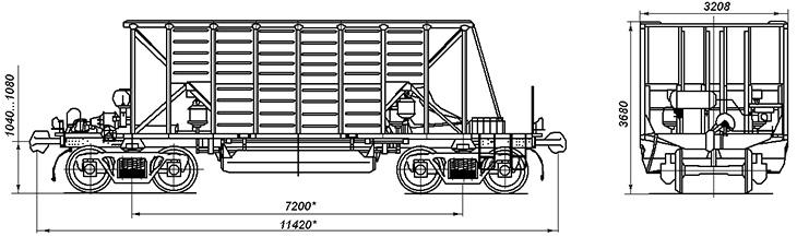 4-осный хоппер-дозатор с прерывистой выгрузкой, модель ВПМ-770