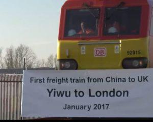 Первый грузовой поезд из Китая в Лондон